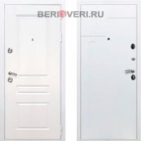 Металлическая дверь REX Премиум H ФЛ-246 Белый / Белый софт