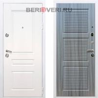 Металлическая дверь REX Премиум H ФЛ-1 Белый / Сандал серый
