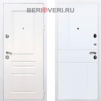 Металлическая дверь REX Премиум H ФЛ-290 Белый / Белый софт