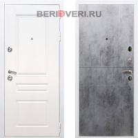 Металлическая дверь REX Премиум H ФЛ-290 Белый / Бетон темный