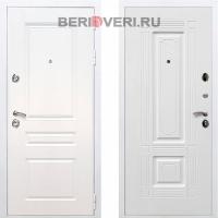 Металлическая дверь REX Премиум H ФЛ-2 Белый / Белый