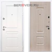 Металлическая дверь REX Премиум H ФЛ-2 Белый / Беленый дуб