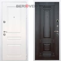 Металлическая дверь REX Премиум H ФЛ-2 Белый / Венге