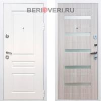 Металлическая дверь REX Премиум H СБ-14 Белый / Сандал белый