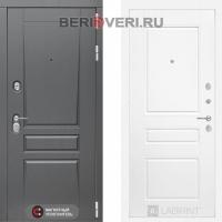 Металлическая дверь Лабиринт Платинум 03 Белый софт