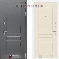 Металлическая дверь Лабиринт Платинум 03 Крем софт