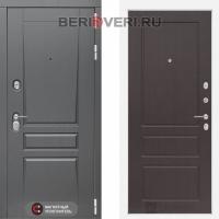 Металлическая дверь Лабиринт Платинум 03 Орех премиум