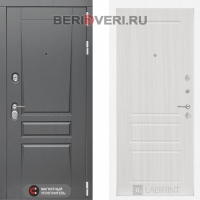 Металлическая дверь Лабиринт Платинум 03 Сандал белый