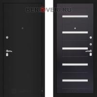 Металлическая дверь Лабиринт CLASSIC Шагрень черная 01 Венге