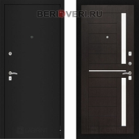Металлическая дверь Лабиринт CLASSIC Шагрень черная 02 Венге