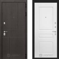 Металлическая дверь Лабиринт URBAN 03 Белый софт