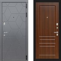 Металлическая дверь Лабиринт COSMO 03 Орех бренди