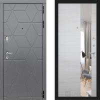 Металлическая дверь Лабиринт COSMO Зеркало Акация светлая горизонтальная
