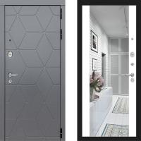 Металлическая дверь Лабиринт COSMO Зеркало Максимум Белый софт