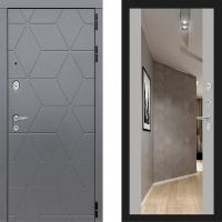 Металлическая дверь Лабиринт COSMO Зеркало Максимум Грэй софт