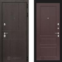 Металлическая дверь Лабиринт URBAN 03 Орех премиум