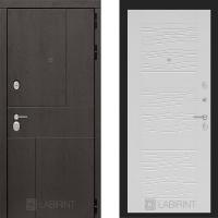 Металлическая дверь Лабиринт URBAN 06 Белое дерево