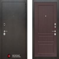Металлическая дверь Лабиринт SILVER 03 Орех премиум