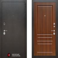 Металлическая дверь Лабиринт SILVER 03 Орех бренди