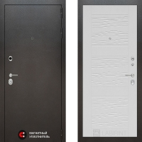 Металлическая дверь Лабиринт SILVER 06 Белое дерево