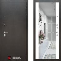 Металлическая дверь Лабиринт SILVER Зеркало максимум Белый софт