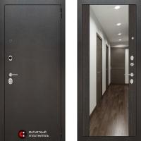 Металлическая дверь Лабиринт SILVER Зеркало максимум Венге