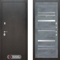 Металлическая дверь Лабиринт SILVER 20 Бетон темный
