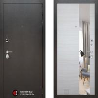 Металлическая дверь Лабиринт SILVER Акация светлая горизонтальная