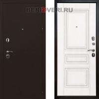 Металлическая дверь Ратибор Троя 3К Белый матовый