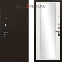 Металлическая дверь Ратибор Троя 3К Зеркало Белый матовый