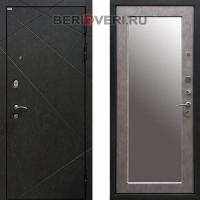 Металлическая дверь Ратибор Эстет 3К Зеркало Бетон светлый